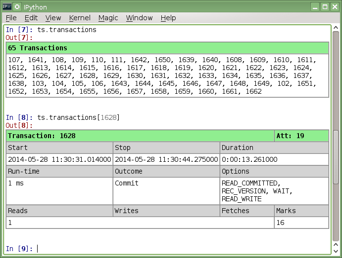 Using monitoring tables & trace/audit for system analysis