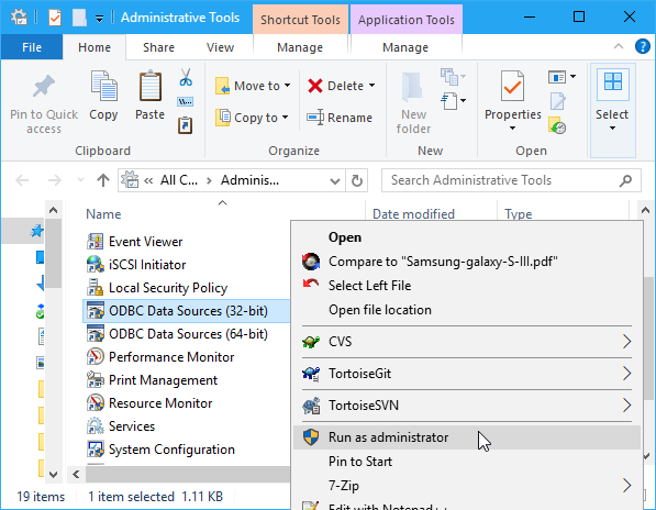 Configuring a DSN on Windows