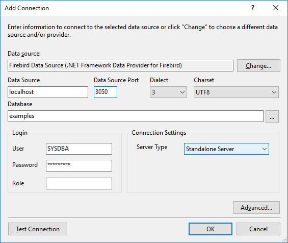 Setting Up for Firebird in Visual Studio 2015
